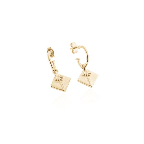 Pacific Palm Earrings - Gold