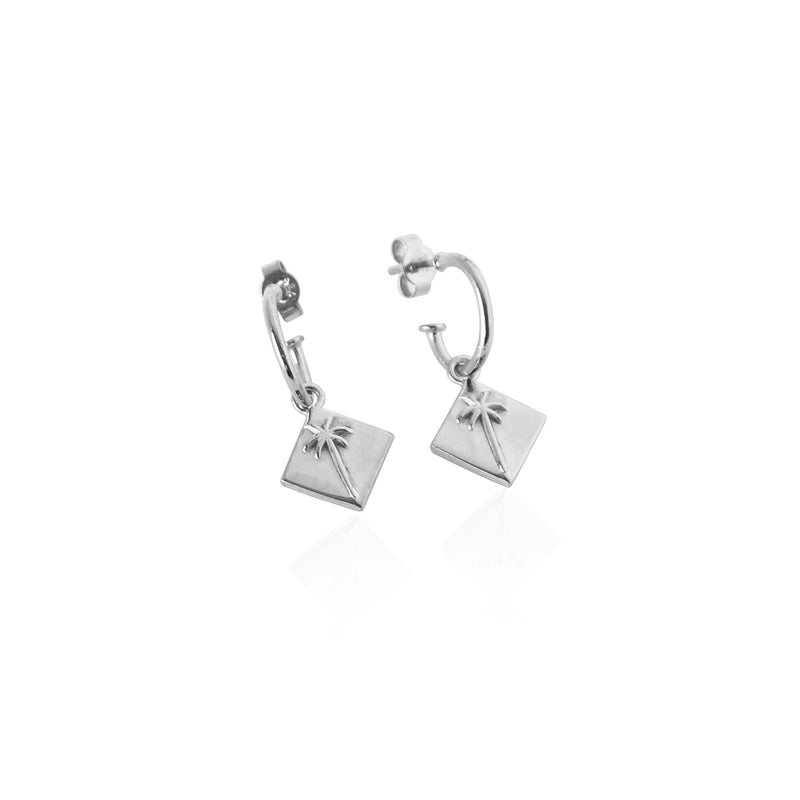 Pacific Palm Earrings - Silver