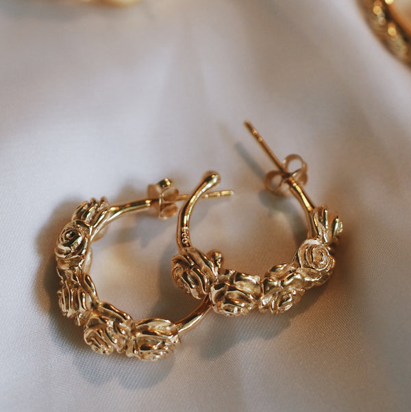 Flores Hoops - Gold