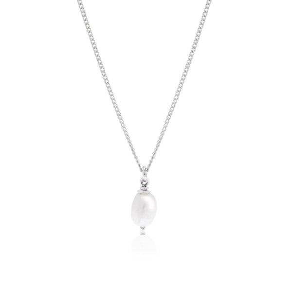 Margot Pearl Necklace - Silver