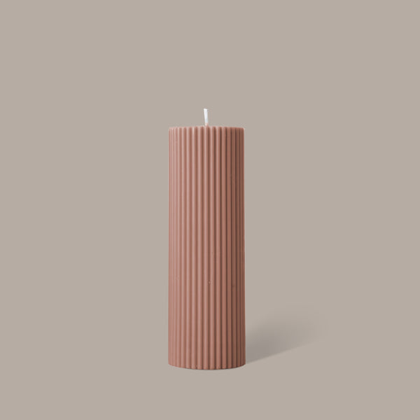 Wide Column Pillar Candle - Peach