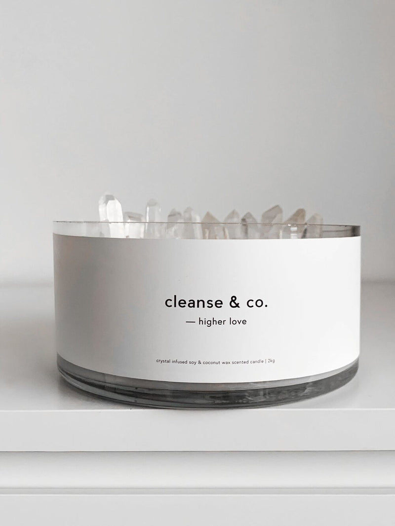 2kg Clear Quartz Candle