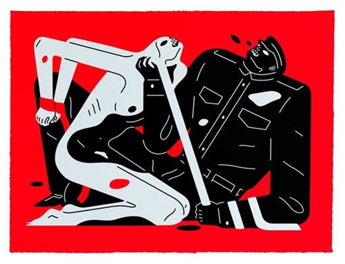Cleon Peterson 'TALK TALK TALK' Red