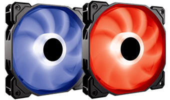 Picture of Cooler Master RGB fans.