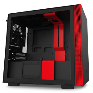 NZXT Chassis- Desktop NZXT H210 Black & Red