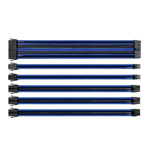 Utopia Computers 2020 Internal Cables - Desktop Black & Blue Sleeved Internal Cabling Kit