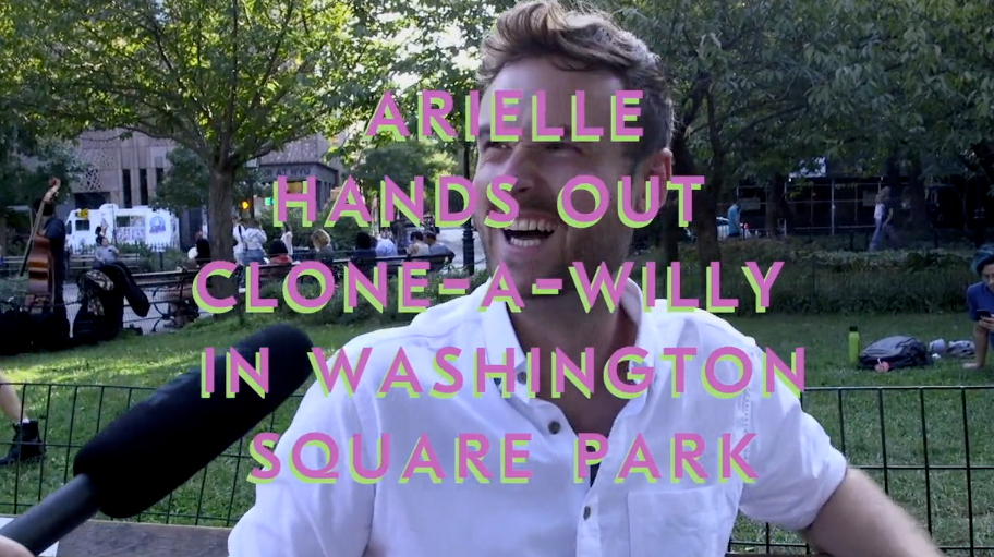 Clone-A-Willy Interview in <br>Washington Square Park NYC