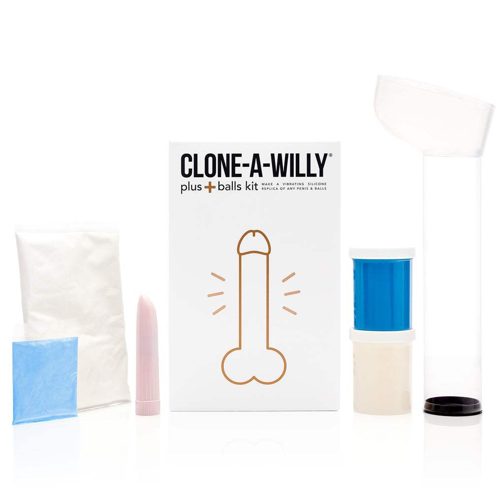 Penis Plus Balls<br>DIY Dildo Kit<br>Glow In The Dark Blue