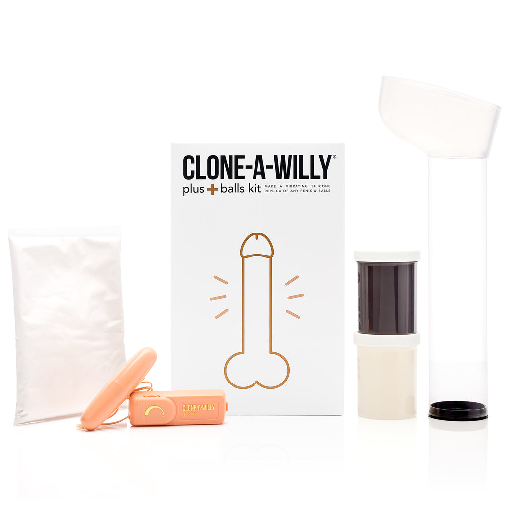 Penis Plus Balls<br>DIY Dildo Kit<br>Deep Skin Tone