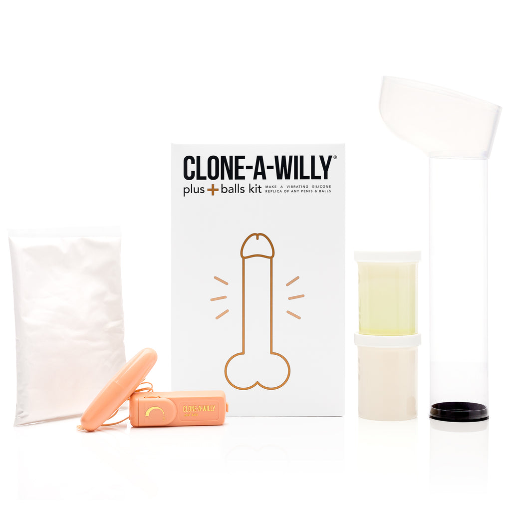 Penis Plus Balls<br>DIY Dildo Kit<br>Glow in the Dark