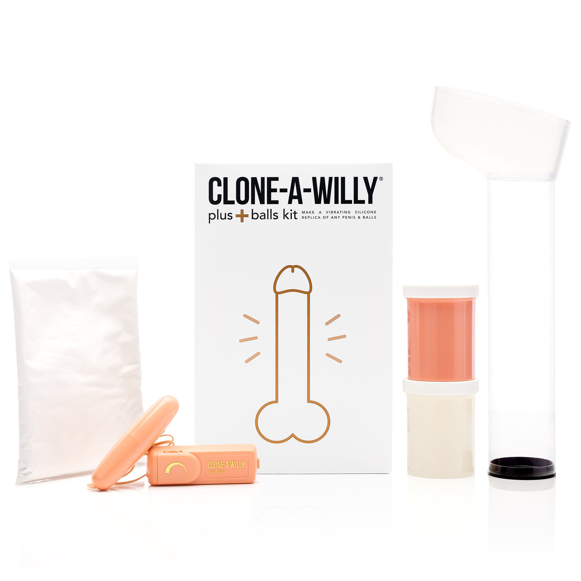Penis Plus Balls<br>DIY Dildo Kit<br>Light Tone