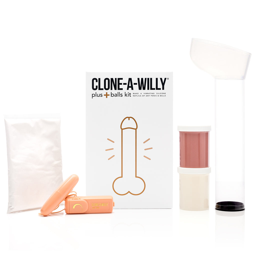 Penis Plus Balls<br>DIY Dildo Kit<br>Medium Tone