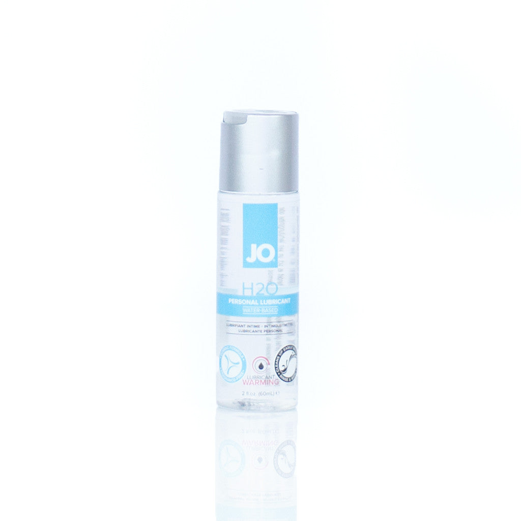 jo h2o best water based body safe lubricant white bottle