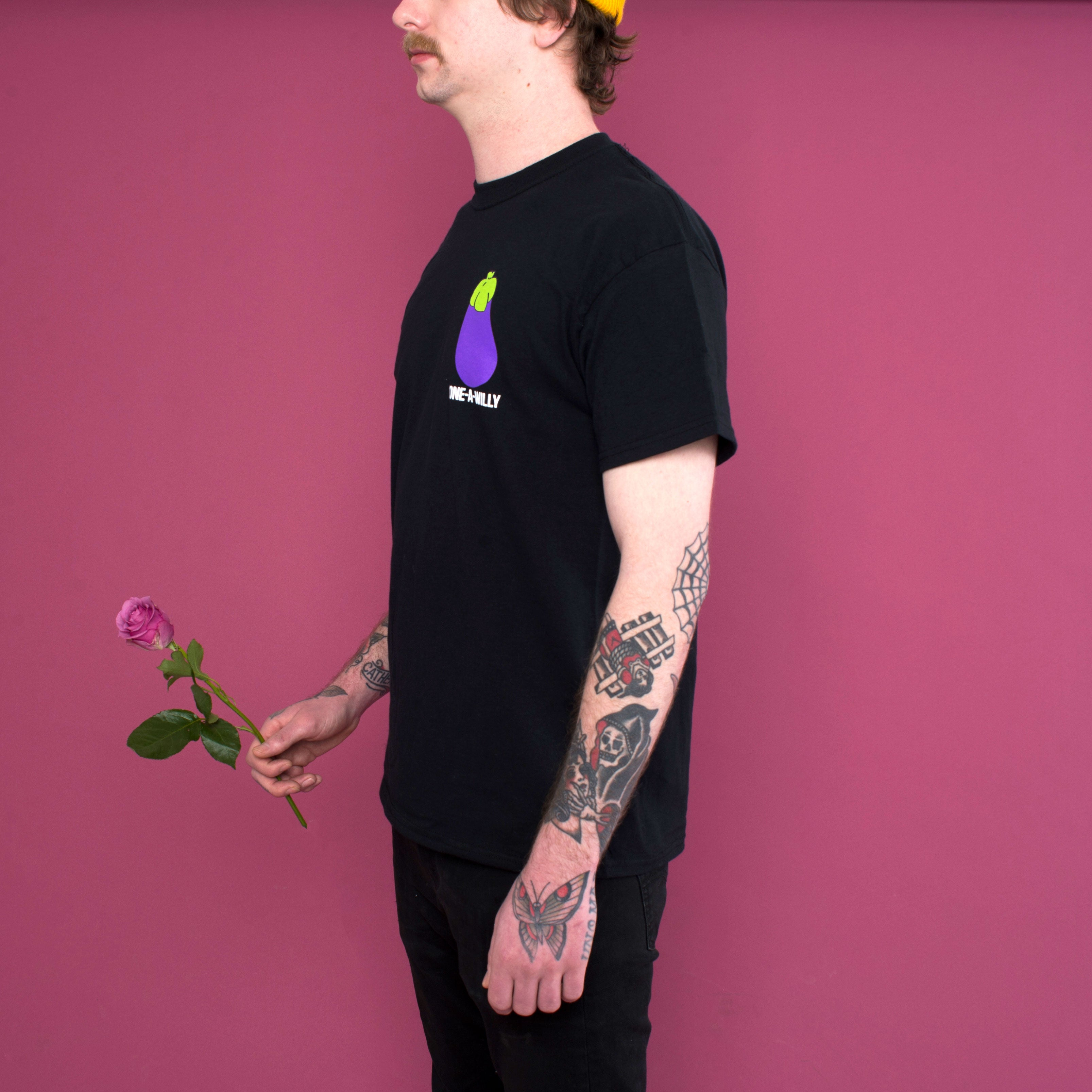 sex positive lgtbq portland hipster eggplant black t shirt apparel