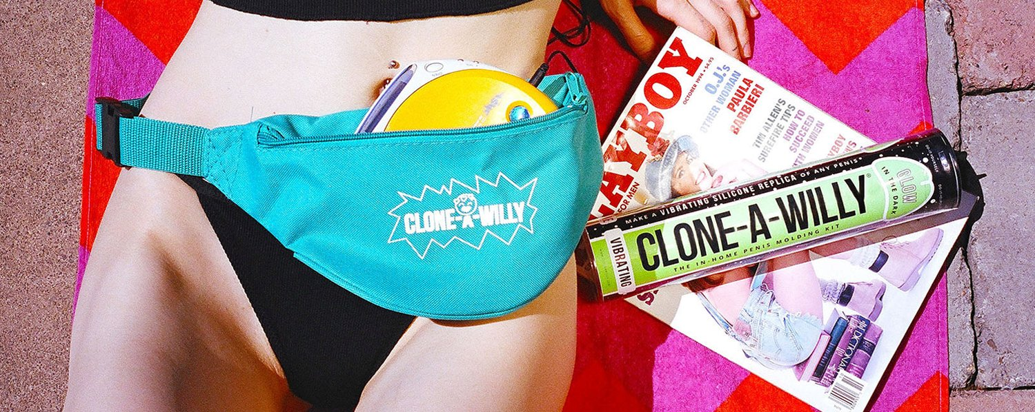 Clone-A-Willy Fanny Pack on Girl's Waist