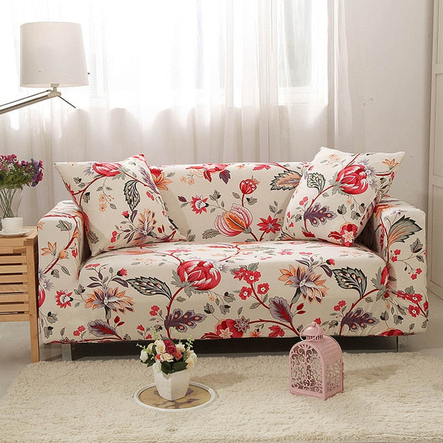Red Floral - Magic Couch Cover