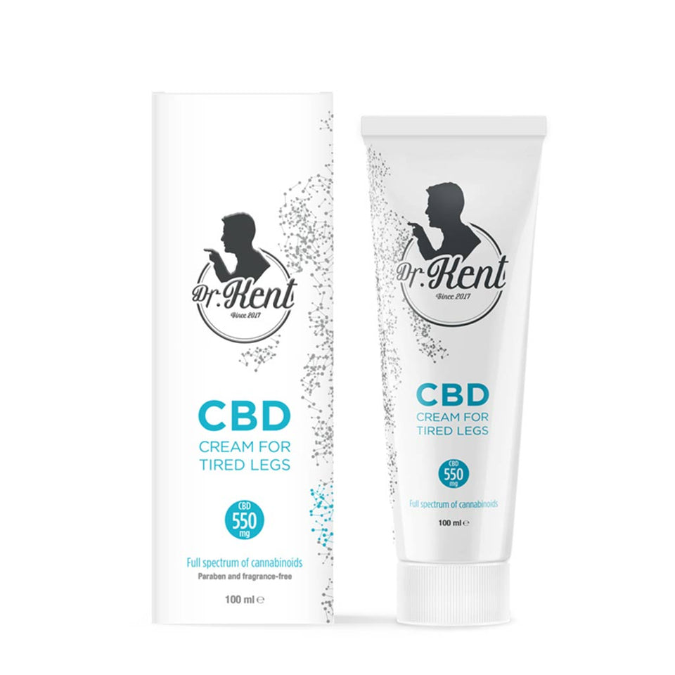 Dr Kent Cream for Tired Legs  with CBD 550mg CBD  100ml