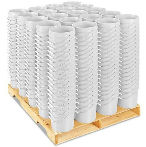 Pallet of 2 Gallon White Buckets