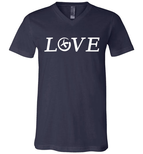GeoLoveWhite-Unisex V-Neck All Sizes