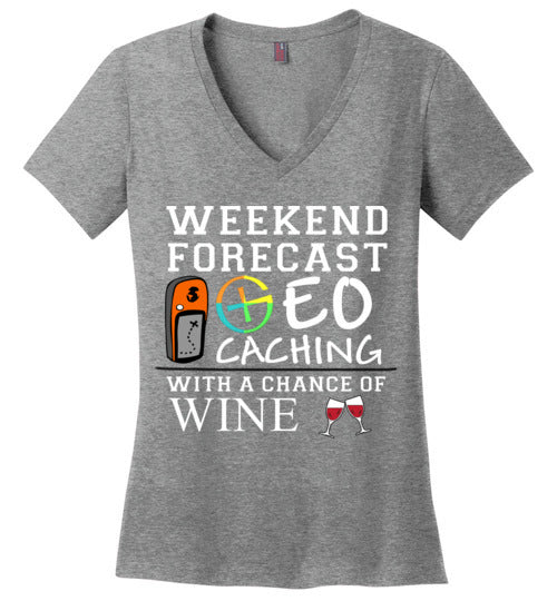 GC Forecast Wine - District Made Ladies Perfect Weight V-Neck