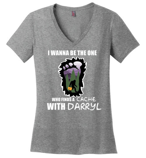 Geocaching with Darryl - District Made Ladies Perfect Weight V-Neck