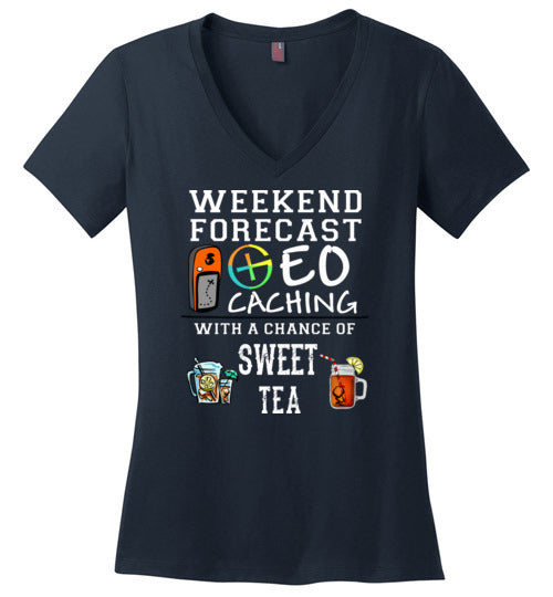 Staycation 2020 - District Made Ladies Perfect Weight V-Neck