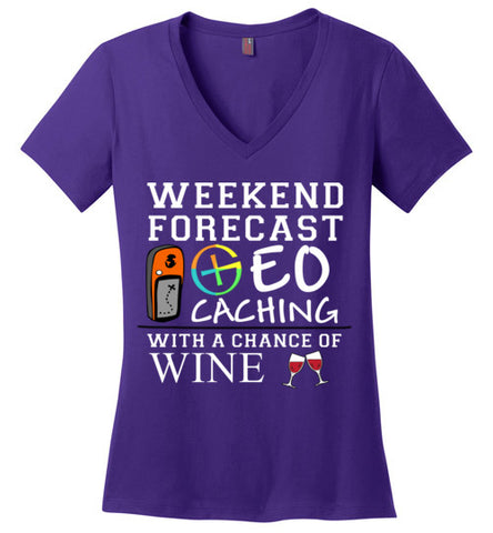 GC Forecast Wine V neck Ladies