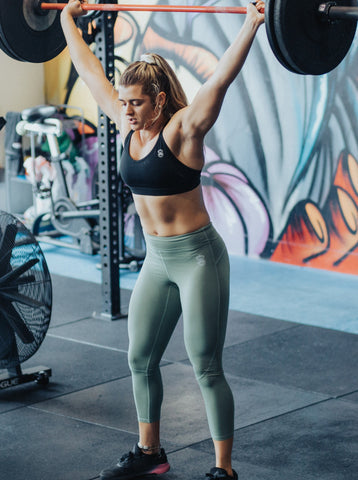 Vibe Leggings 7/8 - Sage - Gorilla Health