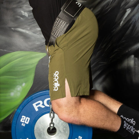 Aura Shorts - Army Green - Gorilla Health