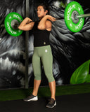 Vibe Leggings 3/4 - SAGE - Gorilla Health