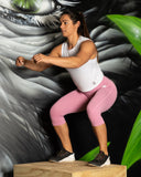 Vibe Leggings 3/4 - ROSE - Gorilla Health