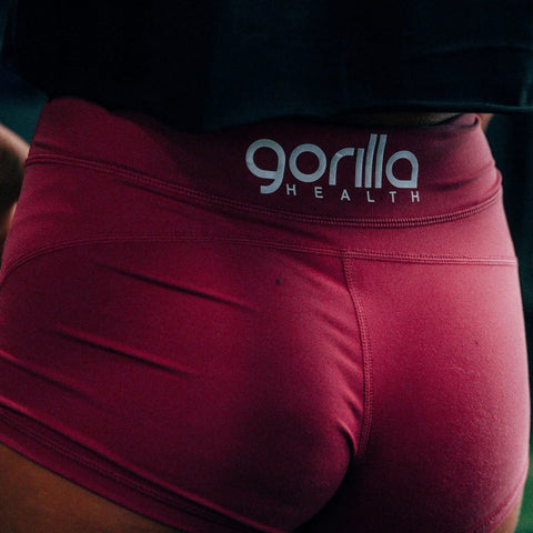 Gorilla Health Booty Shorts - Raspberry Red - Gorilla Health