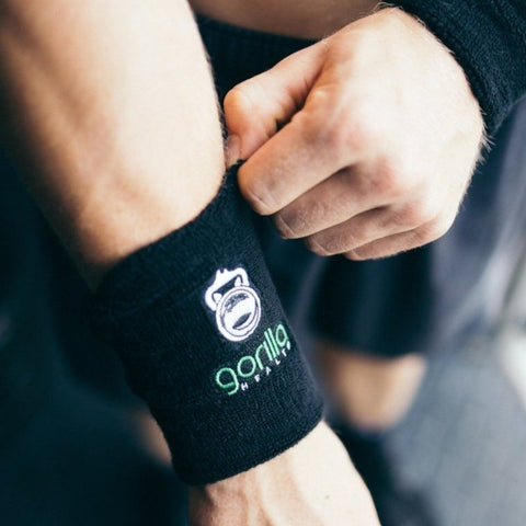 Gorilla Health Oversize Sweat Bands - Black - Gorilla Health