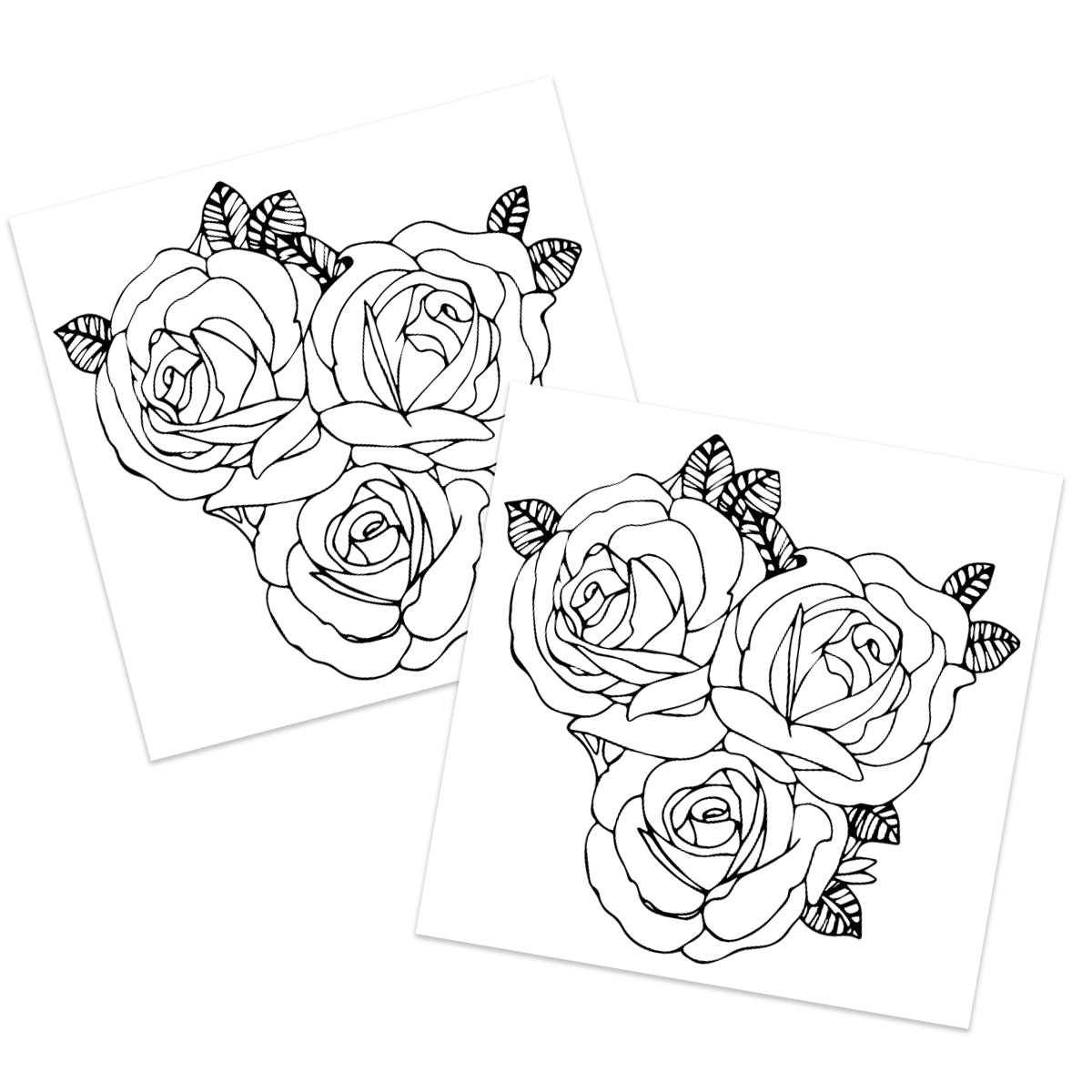 Line Art Rose (2-Pack)