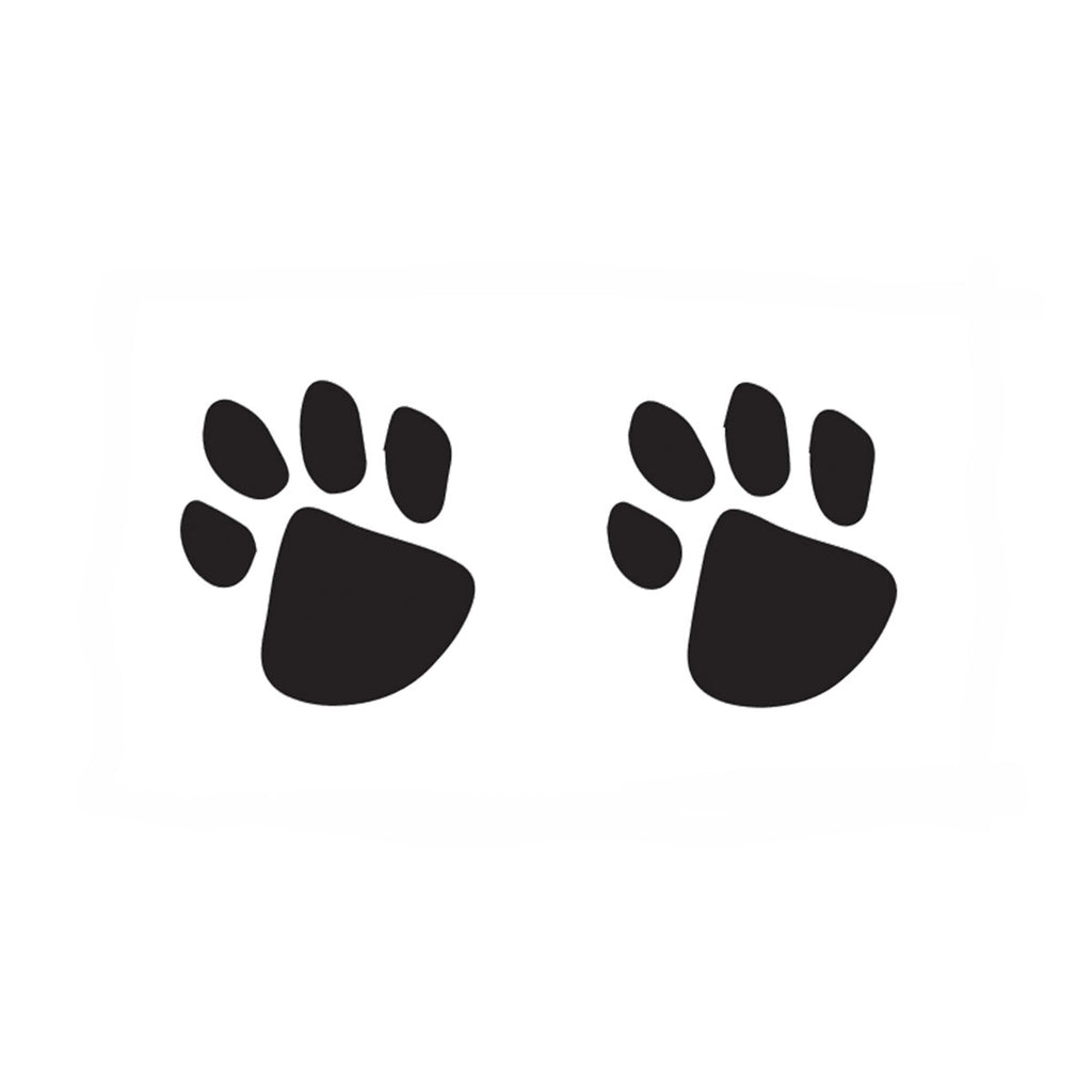 Black Paw Prints (10-Pack)