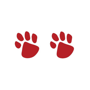 Red Paw Prints (10-Pack)