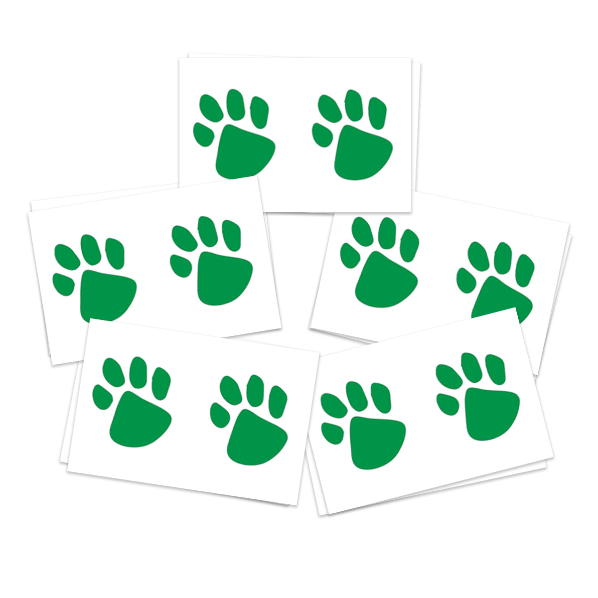 Green Paw Prints (10-Pack)