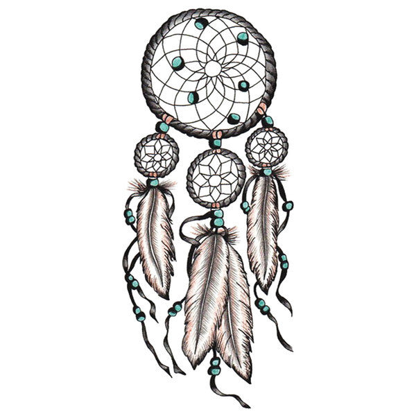 Native style large dream catcher temporary flash tattoos for The california dream tattoo shop