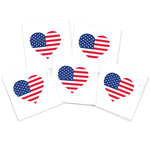 American Flag Heart (10-Pack)