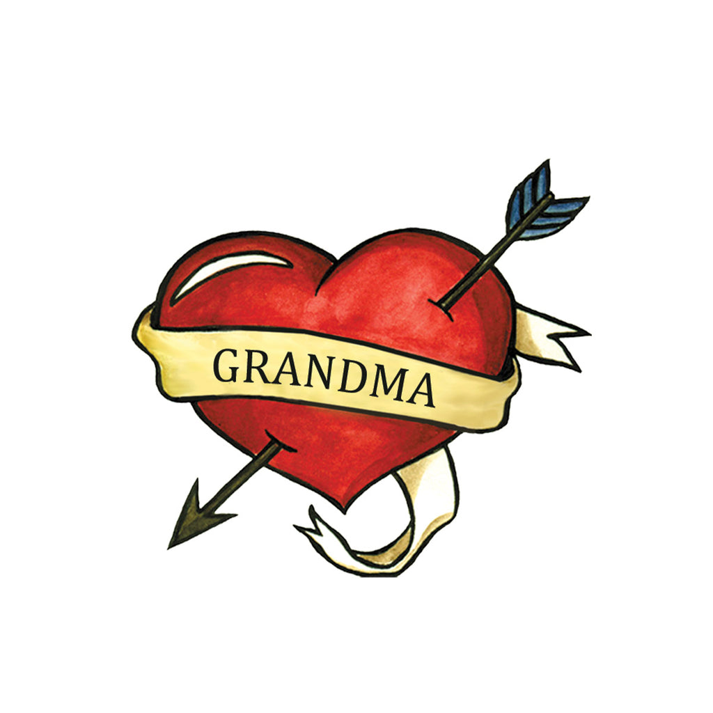 Grandma Traditional Heart (3-Pack)