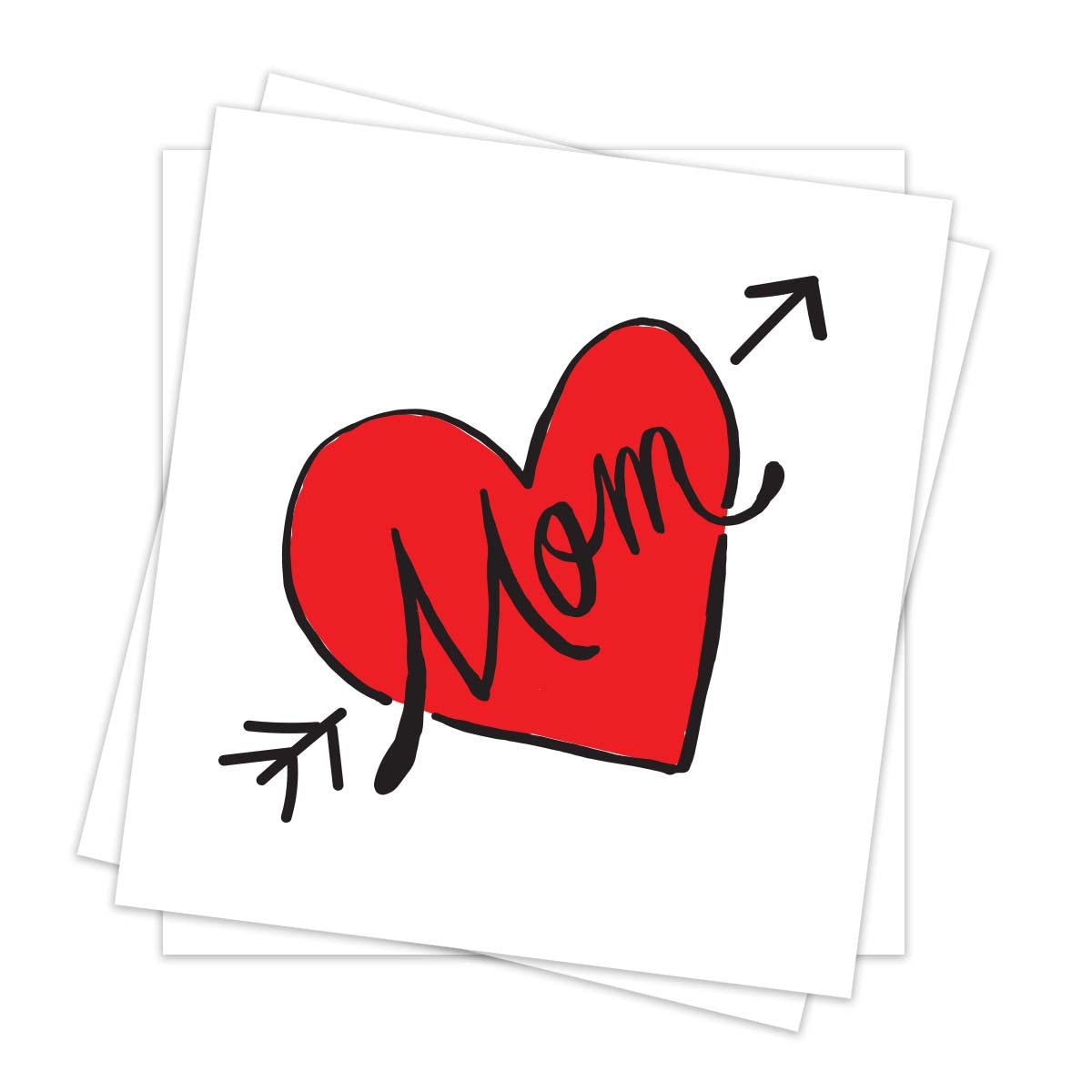 Contemporary Mom Heart (3-Pack)