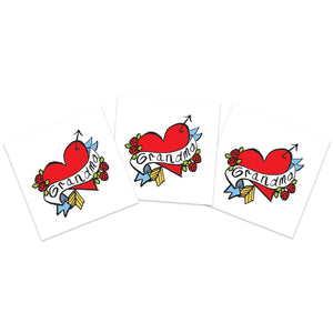 Hand-drawn Grandma Heart (3-Pack)