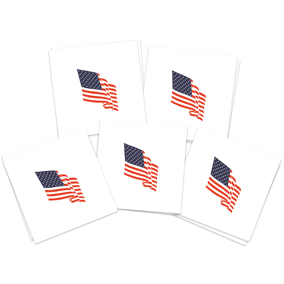 Waving American Flag (10-Pack)