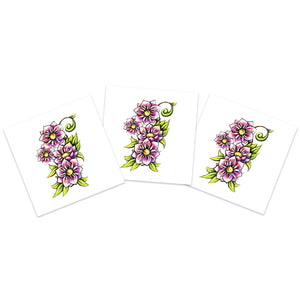Purple Flowers (3-Pack)