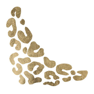 Gold Cheetah Print Temporary Tattoo