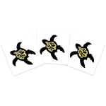 Black and Gold Flower Turtle (3-Pack)