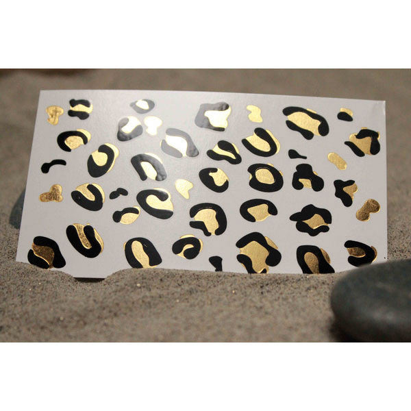GOLD METALLIC and Black Leopard Print Temporary Jewelry ...