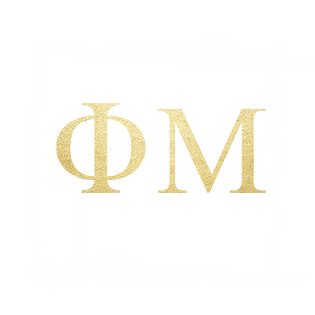 Phi Mu Letters (10 Pack) Gold