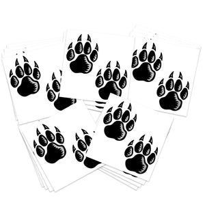 Silver & Black Wolf Paw Prints (20-Pack)