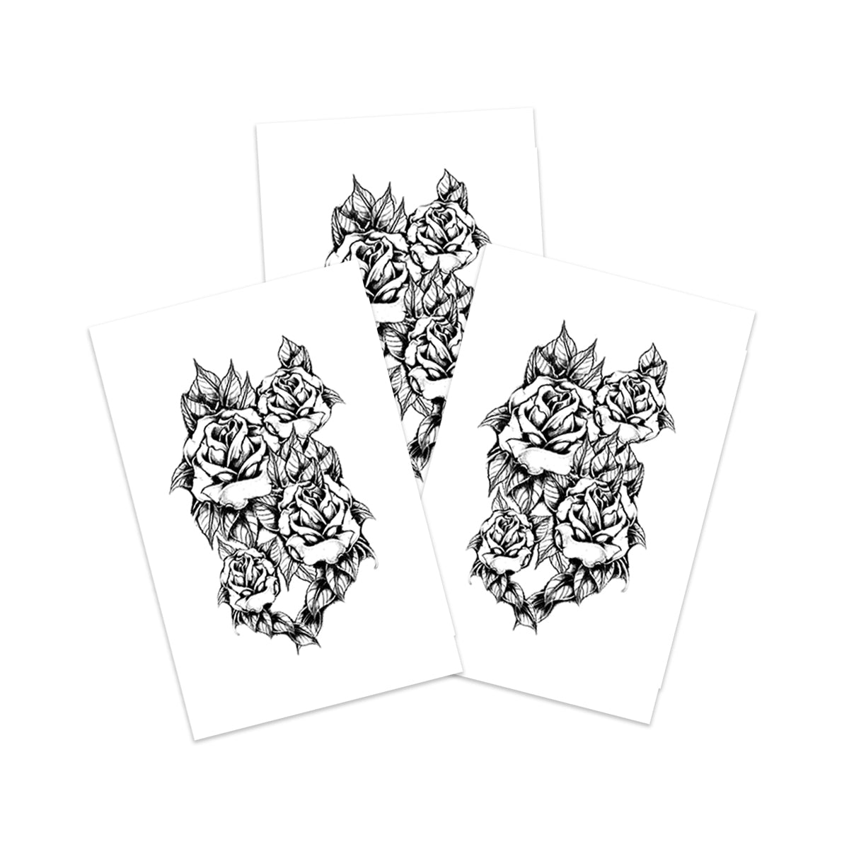 Black & White Rose Cluster (3-Pack)